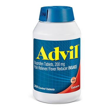 Advil Tablets - 200mg - 360 Tablets