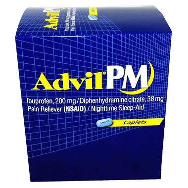 Advil PM Caplets -180 ct.