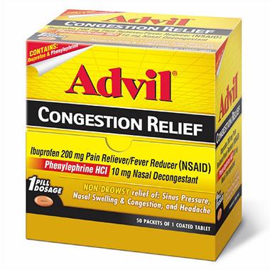 Advil Congestion Relief Dispenser - 50 ct. - 2 pk.
