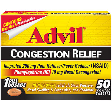 Advil Congestion Relief - 50 ct.