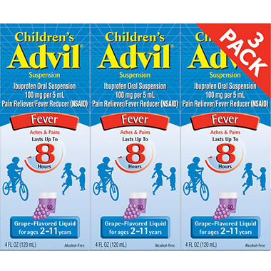 Children's Advil� Liquid - Grape - 4 fl. oz. - 3 pk.