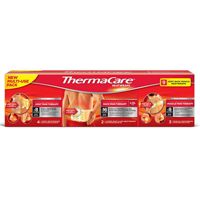 ThermaCare Heatwraps Multi-Use Pack (9 ct.)