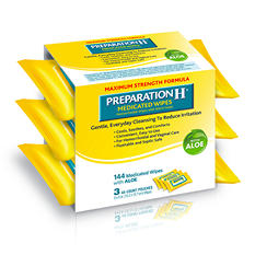 Preparation H® Medicated Wipes - 144ct