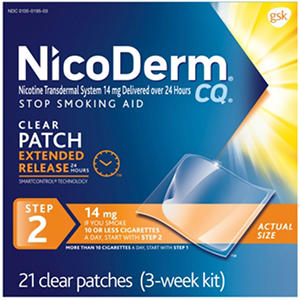 NicoDerm CQ Clear Step 2 - 14mg (21 Patches)