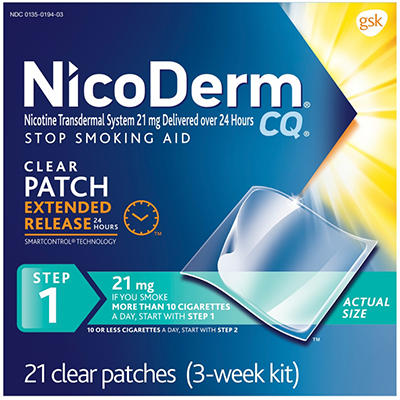 NicoDerm CQ Clear - Step 1 - 21mg - 21 Patches