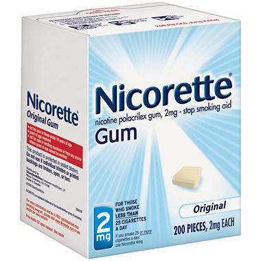 Nicorette� 2mg Original Gum - 200 pieces