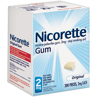 Nicorette® 2mg Original Gum - 200 pieces