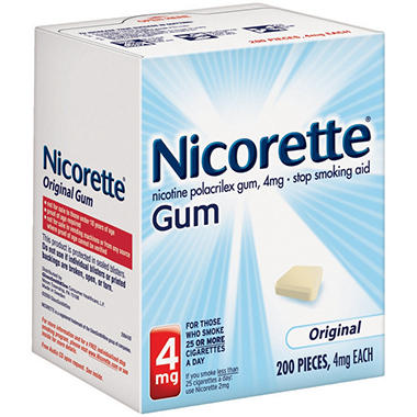 Nicorette 4mg Original Gum (200 ct.)