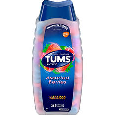 TUMS Ultra 1000 Chewable Tablets, Assorted Berries (265 ct.)