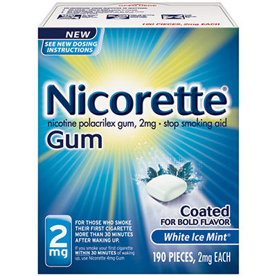 Nicorette White Ice Mint Nicotine Gum - 2mg
