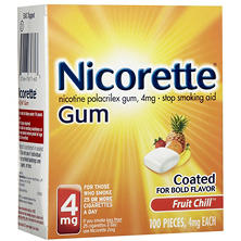Nicorette Fruit Chill Coated Gum - 190/4 mg.