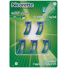 Nicorette 2mg Mini Lozenge Mint Flavor (135 ct.)