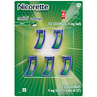 Nicorette 4mg Mini Lozenge Mint Flavor (135 ct.)