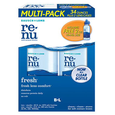 Bausch + Lomb Renu Fresh Multi-Purpose Cleaning Solution - 16 oz. bottles - 2 pk.