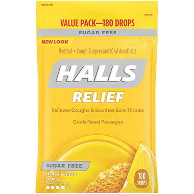 Halls® Mentho-Lyptus® - Sugar Free - 180 ct.