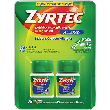 Zyrtec - 10mg - 75 ct.
