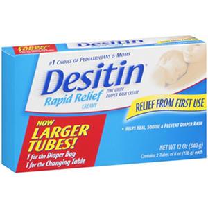 Desitin Rapid Relief Diaper Rash Cream 2/6 oz.