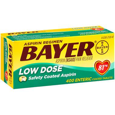 Bayer® Low Dose Aspirin Regimen - 400 ct.