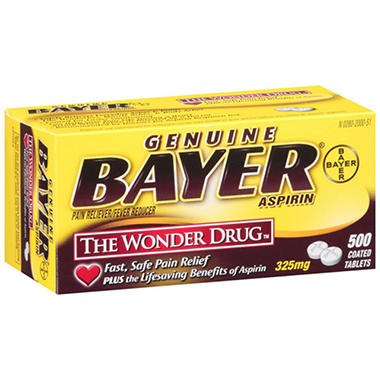 Bayer® Aspirin - 325mg/500 coated tablets