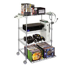 Gamekeeper Wire 4-Tier Tower for Gaming Gear - Silver