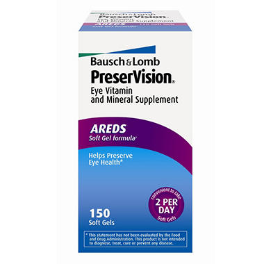 Bausch & Lomb PreserVision® - 150 soft gels
