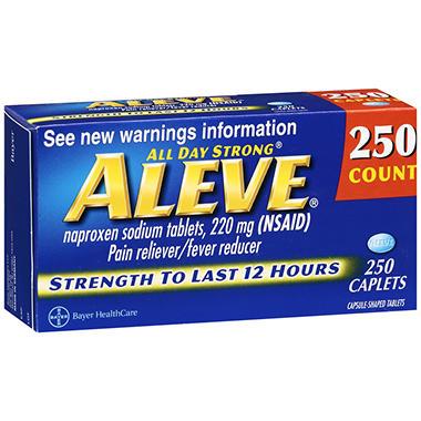 Aleve® Caplets - 220mg - 250 ct.