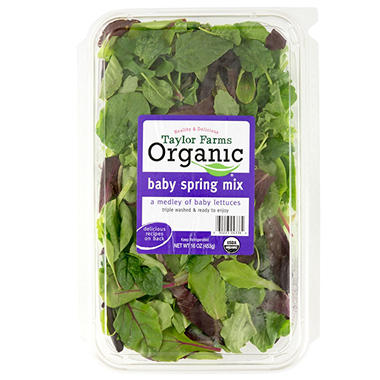 Taylor Farms Organic Baby Spring Mix (16 oz.)