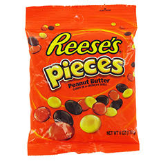 Reese's Pieces Peanut Butter Candy (6 oz. bag, 12 ct.)