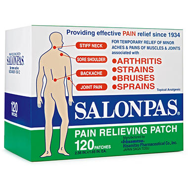 Salonpas Pain Relief Patch, 120 ct.