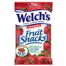 Welch's Strawberry Fruit Snacks - 5 oz. Bag - 12 ct.