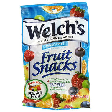 Welch's Mixed Fruit Snacks - 5 oz. Bag - 12 ct.