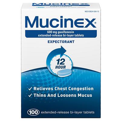 Mucinex Expectorant - 12 Hour - 100 ct.