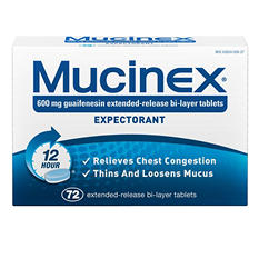 Mucinex Expectorant - Regular Strength - 72 ct.