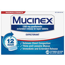 Mucinex Expectorant - Maximum Strength (48 ct.)
