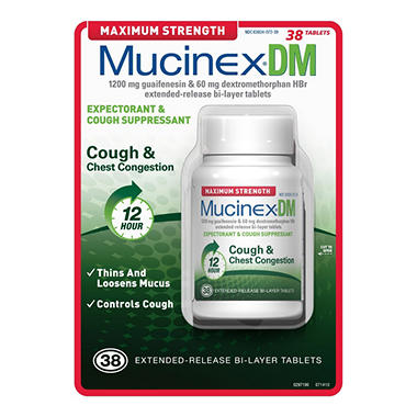 Mucinex® DM Max Strength - 38ct