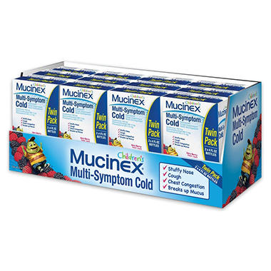 Children's Mucinex Multi-Symptom Cold Medicine - Very Berry Flavor - 4 oz. - 2 pk.