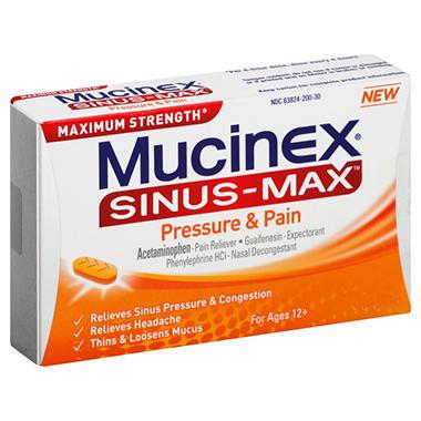 Mucinex Sinus-Max Pressure & Pain Caplets - 50 ct.