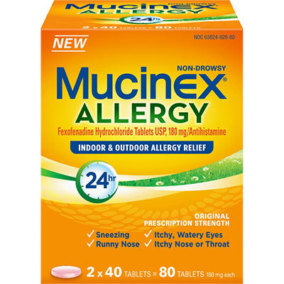 Mucinex Allergy Non Drowsy (80 ct.)