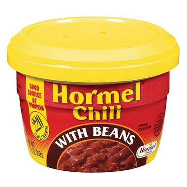 Hormel Chili with Beans Micro Cup - 7.38 oz. Cup - 12 ct.