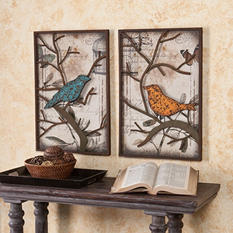 Bird Wall Panel 2-piece Set