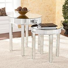 Avonlea Mirrored Nesting Table 2-piece Set
