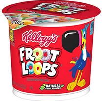 Kellogg's Fruit Loops Cereal in a Cup - 2 oz. Cup - 12 ct. sku9124214