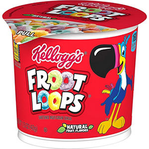 Kellogg's Fruit Loops Cereal in a  Cup - 2 oz. Cup - 12 ct.