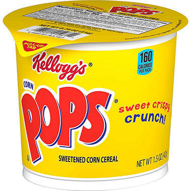 Corn Pops Cereal in a cup - 2 oz. Cup - 12 ct.