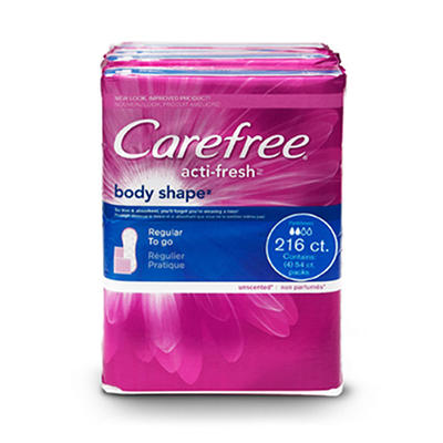 Carefree® Acti-Fresh™ Pantiliners  4 pk. - 54 ct. each