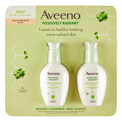 Aveeno - Positively Radiant Daily Moisture with SPF 15, 8 fl. oz. - 2 pk.
