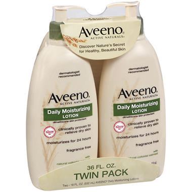 Aveeno Daily Moisturizing Lotion (18 oz., 2 pk.)