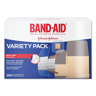 Band-Aid Adhesive Bandages Variety Pack - 280 ct.