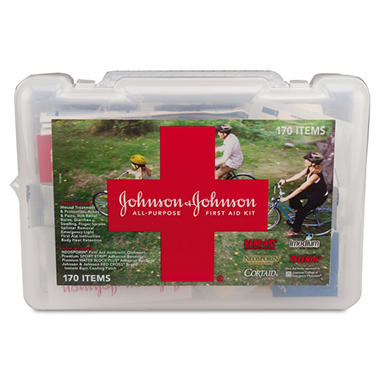 Johnson & Johnson First Aid Kit - 170 pc.