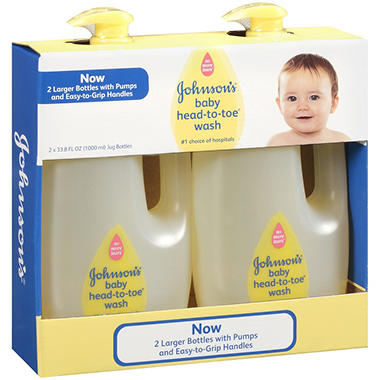 Johnson's Baby Head To Toe Wash, 33.8 oz. - 2 pk.